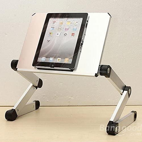 Soporte para portátiles y tablets color plateado