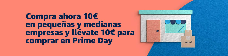 Gana 10€ comprando en pequeñas y medianas empresas para gastar en Amazon