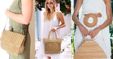 Bolsos de fibras naturales, paja, mimbre, bambú